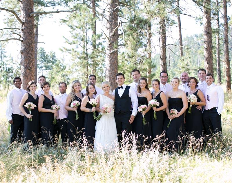 Romantic Polish Black and White Bridal Party
