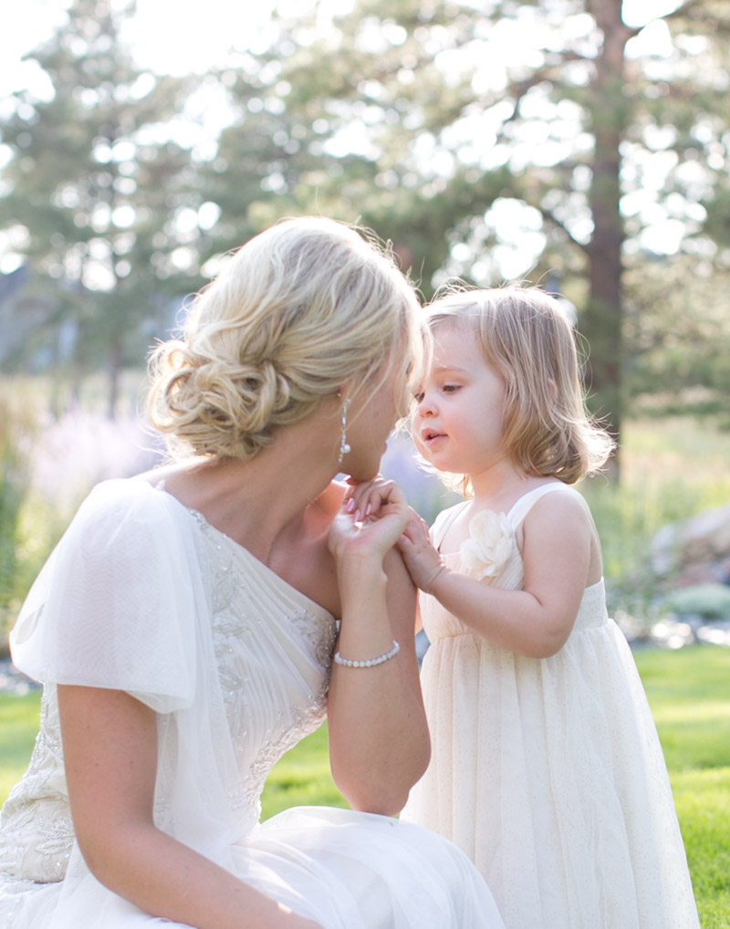 Romantic Polish Wedding Bride and Flowergirl