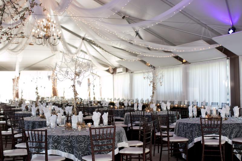 Romantic Polish Wedding Reception Tent Venue