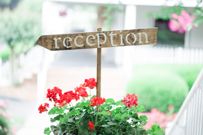Rustic Reception Sign_
