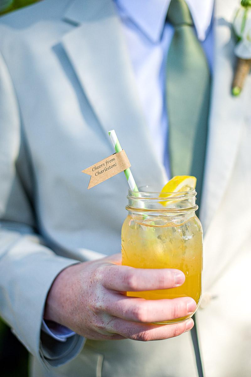 Rustic Southern Wedding Groomsmen and Mason Jar Drink