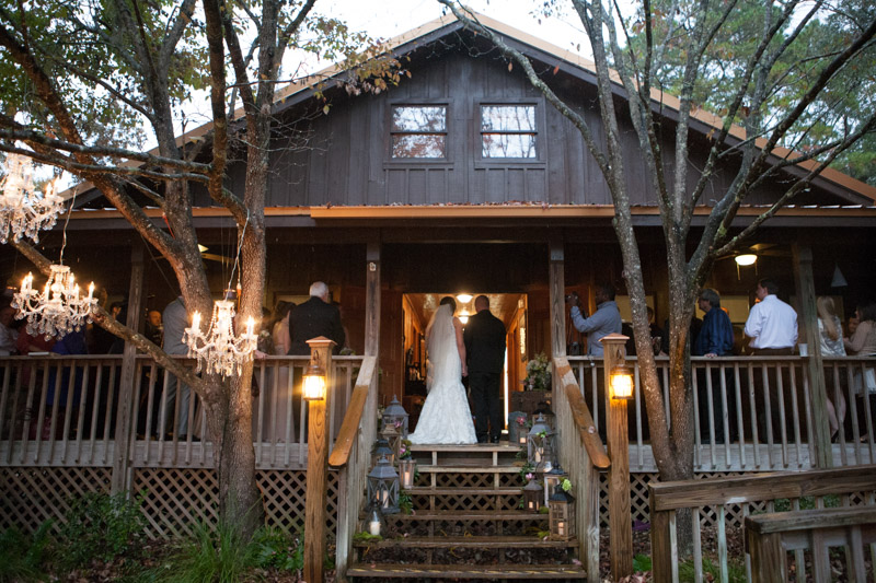 Rustic outdoor wedding processional