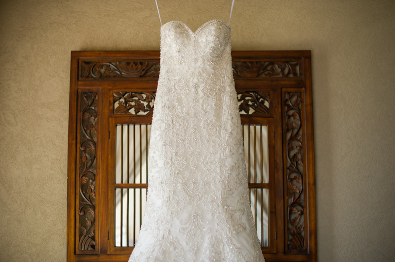 Strapless Beaded Trumpet Style Wedding Gown