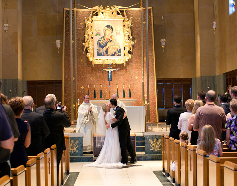 Traditional Polish Wedding Ceremony First Kiss
