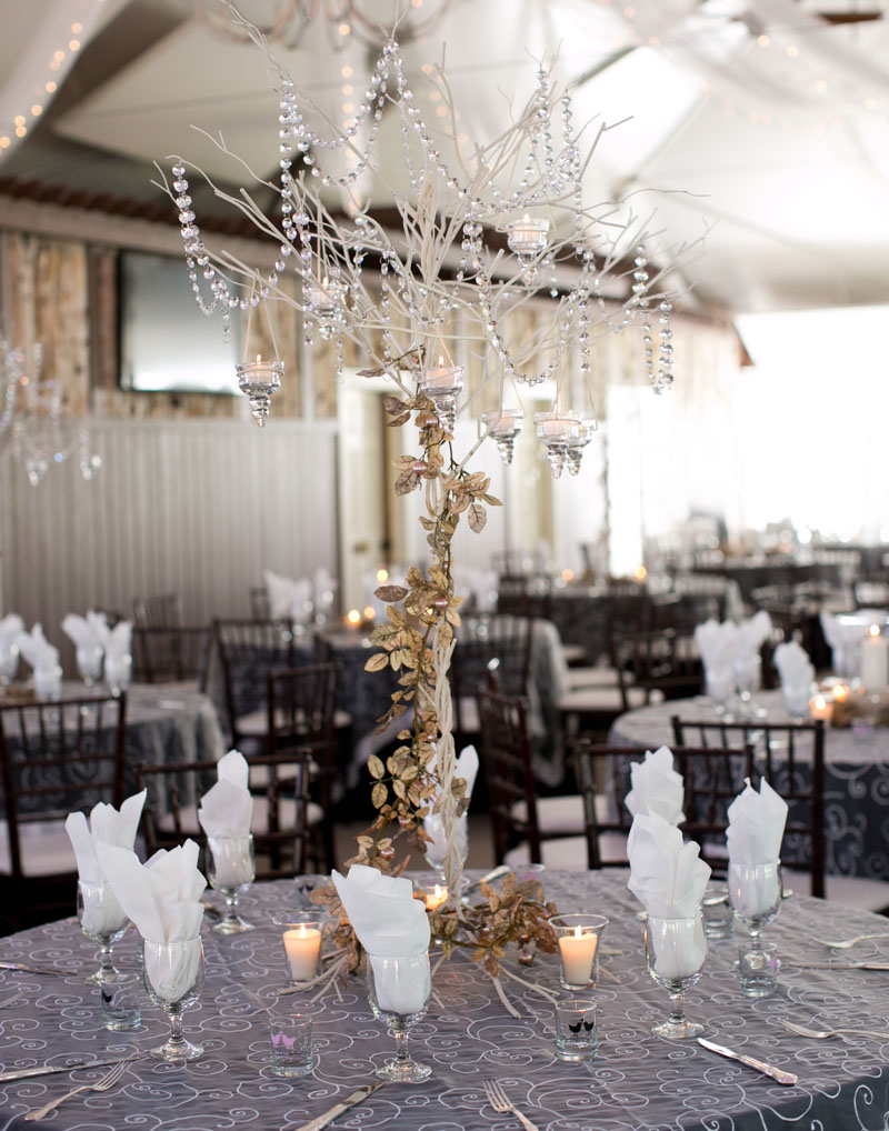 Traditional Polish Wedding Reception Gray Tablesetting