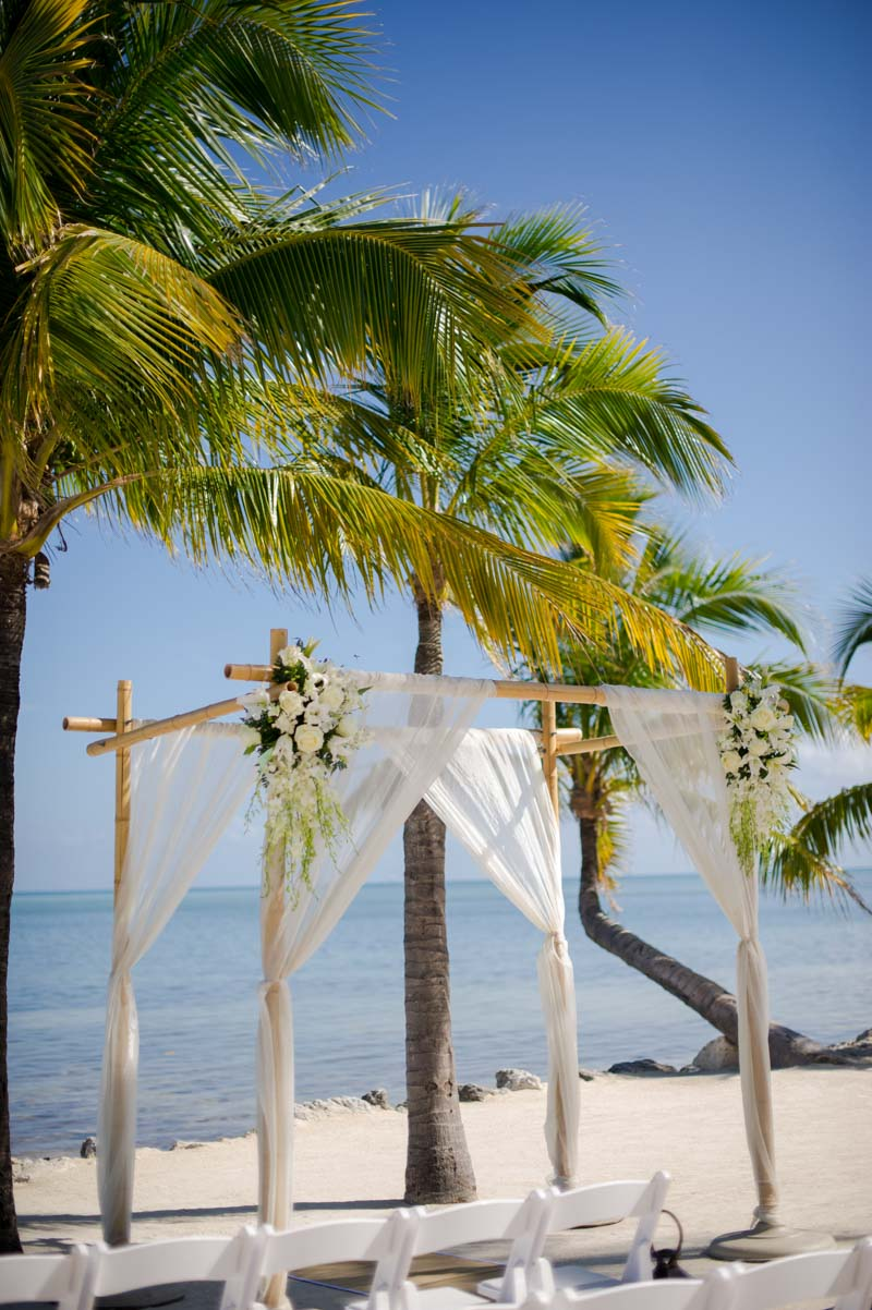 Tropical Islamorada Beach Wedding Ceremony Altar