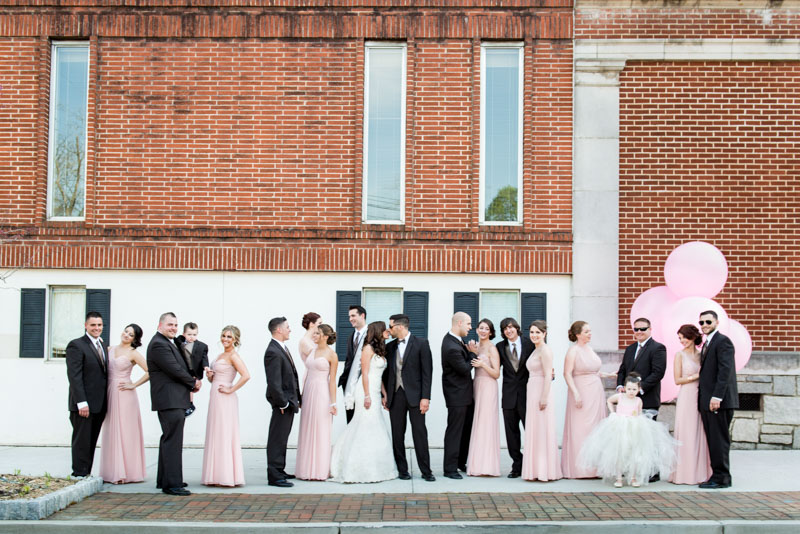 Wedding Party Pink and Black Color Scheme