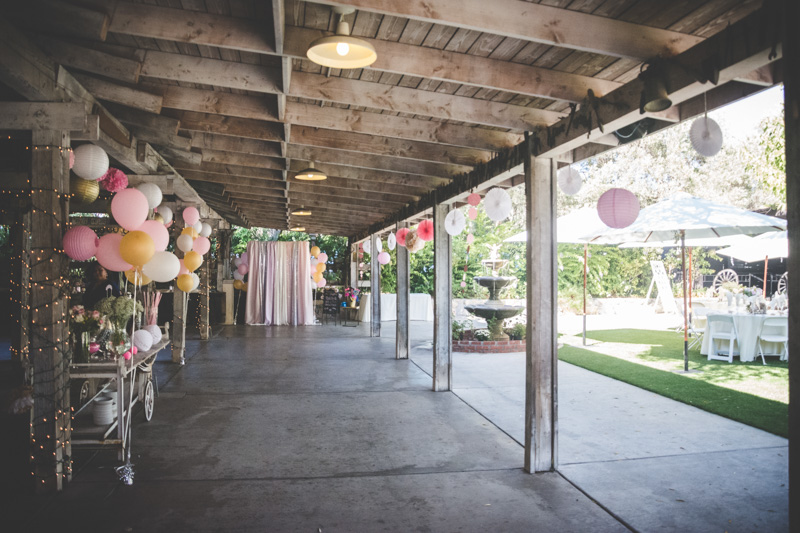 Whimsical Pink and Gold Wedding Decorations