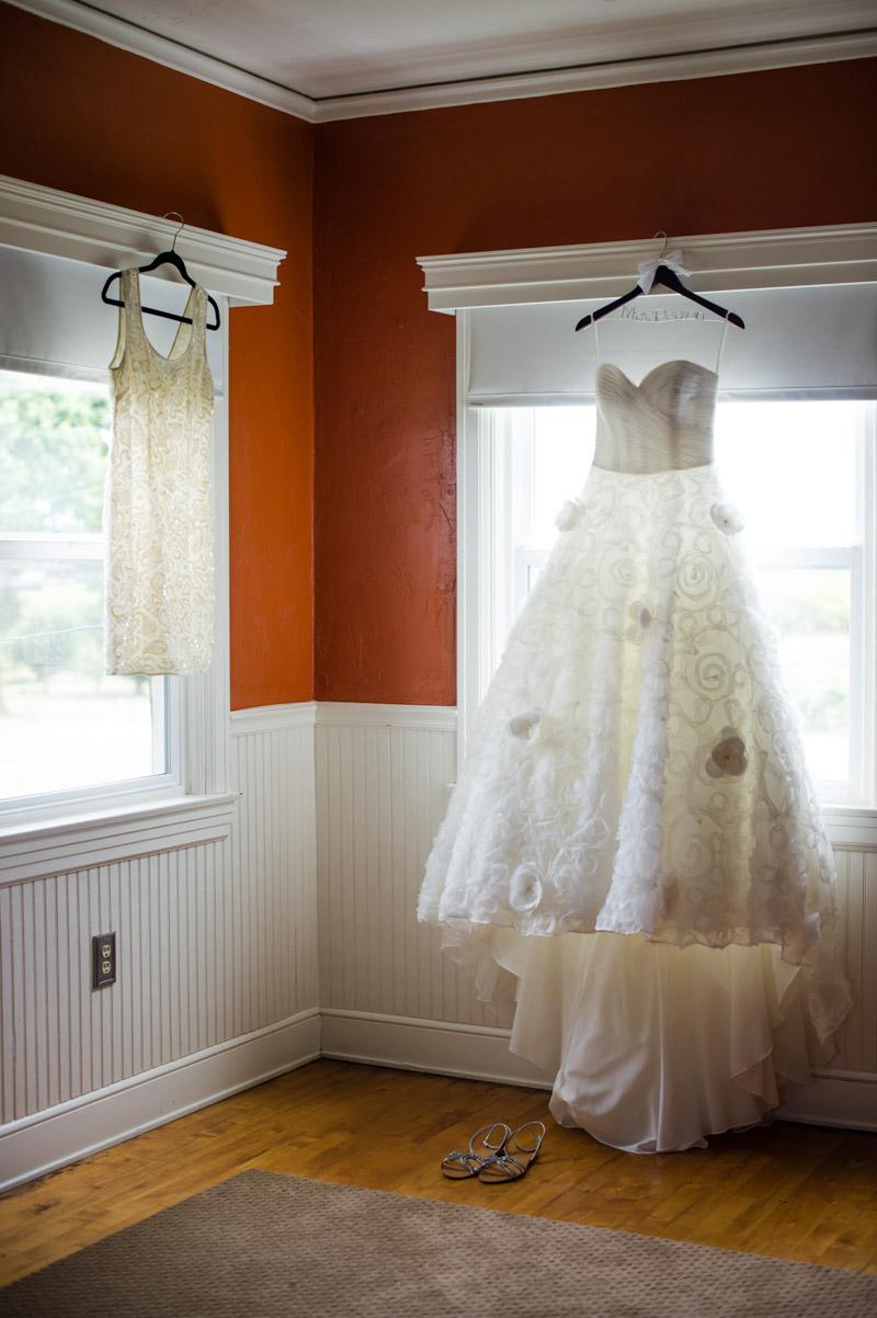 White Dress Hanging