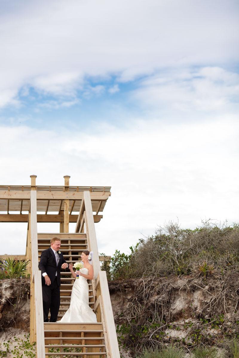 Beach wedding processional