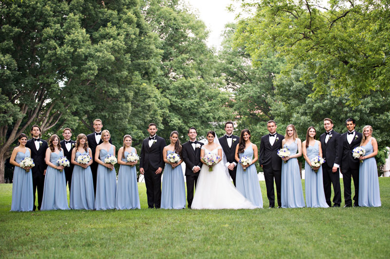 Bridal Party in Cornflower Blue and Black