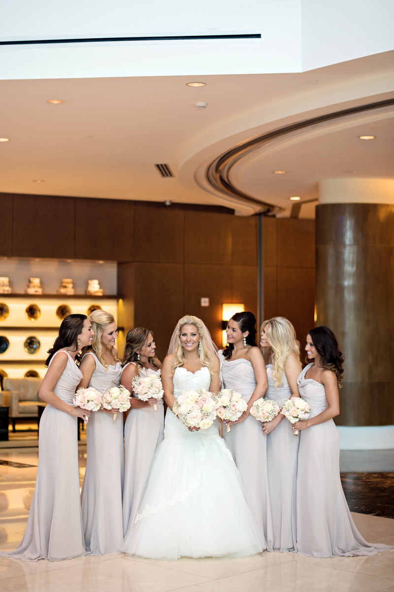 Bride & Bridesmaids Smiling