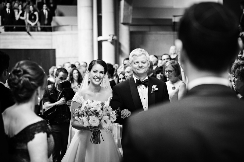 Bride and Father of the Bride Walk Down the Aisle