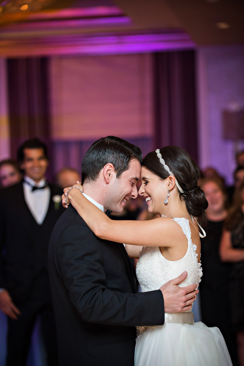 Bride and Groom First Dance Glamorous Atlanta Wedding