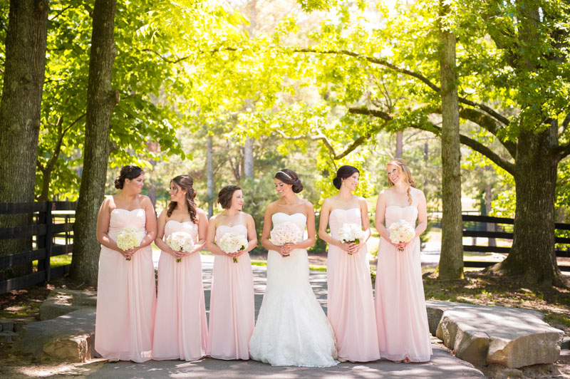 bride-and-bridesmaids-outdoor-shot-in-blush-dresses
