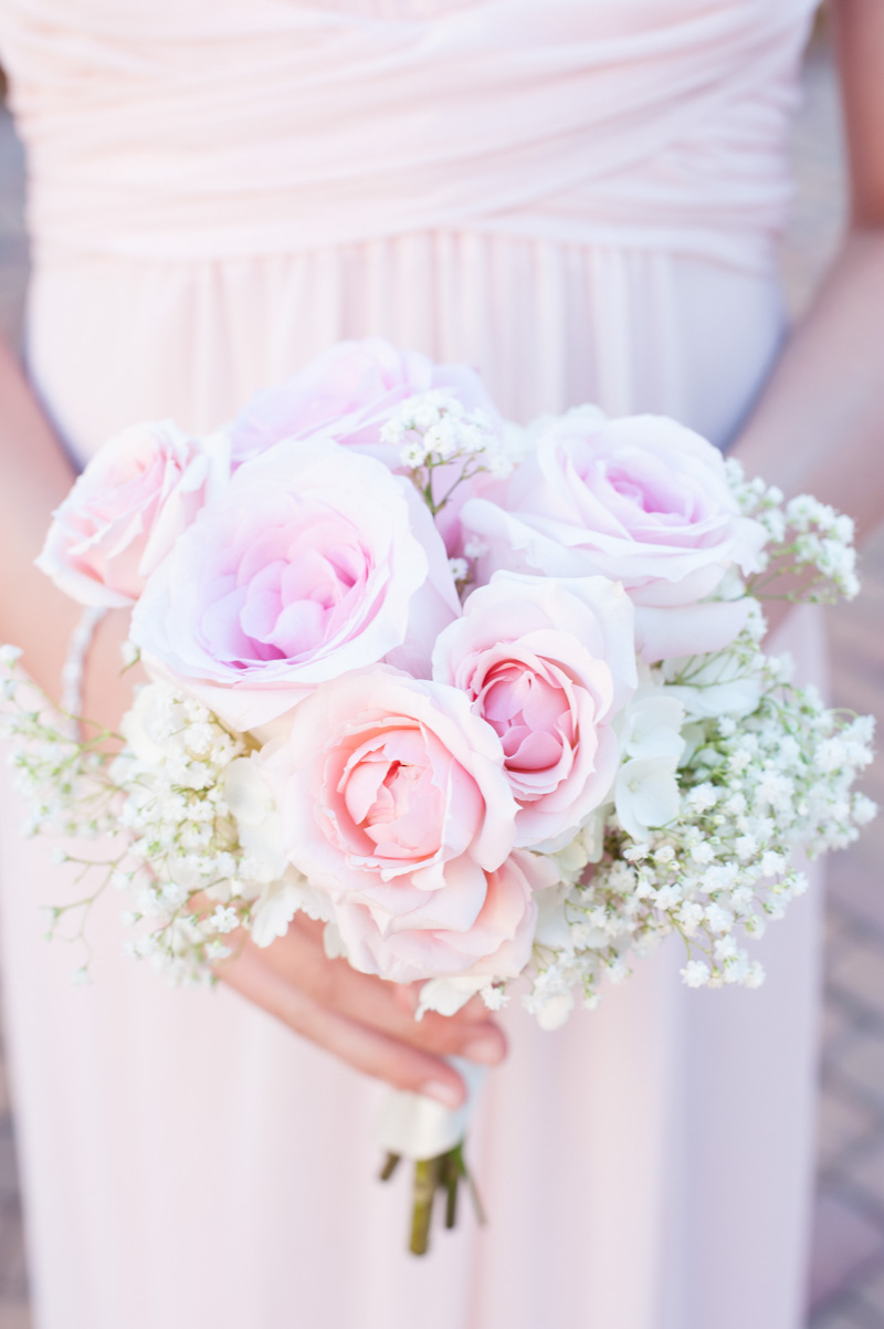 Bridesmaid Bouquet Roses and Babys Breath