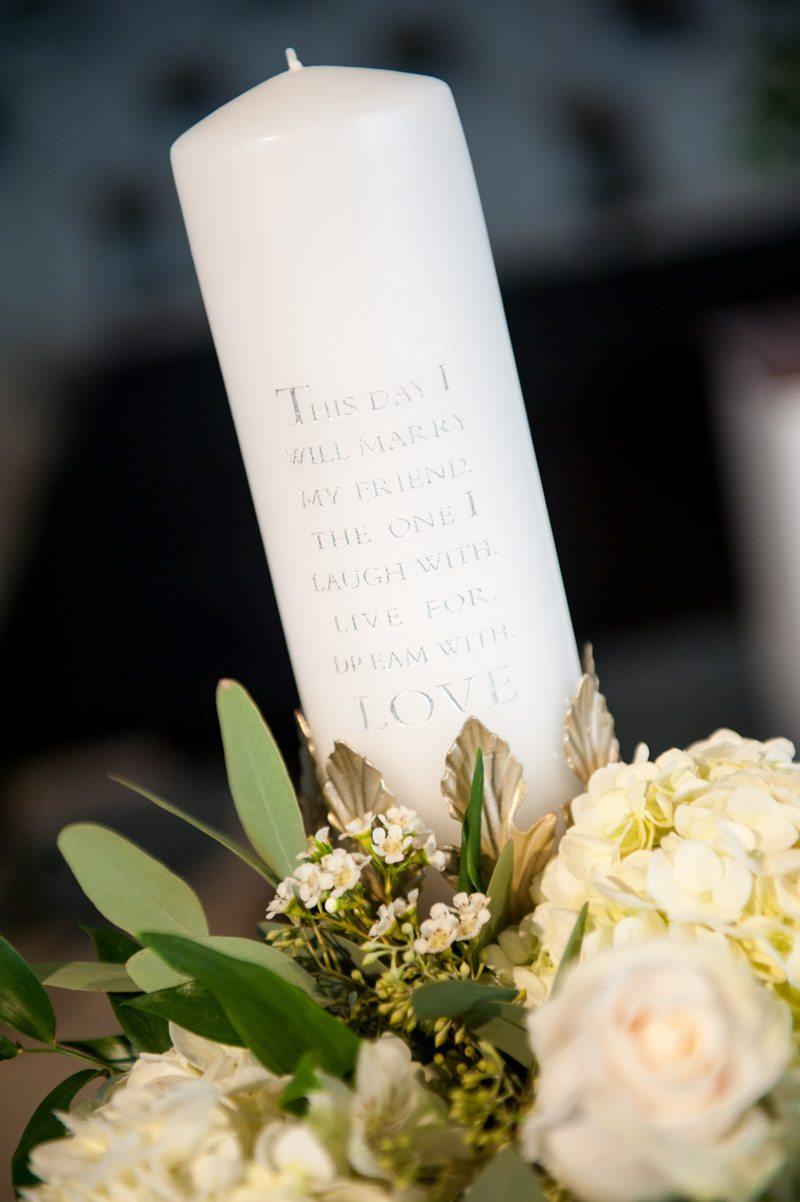 Candle tablepiece wedding