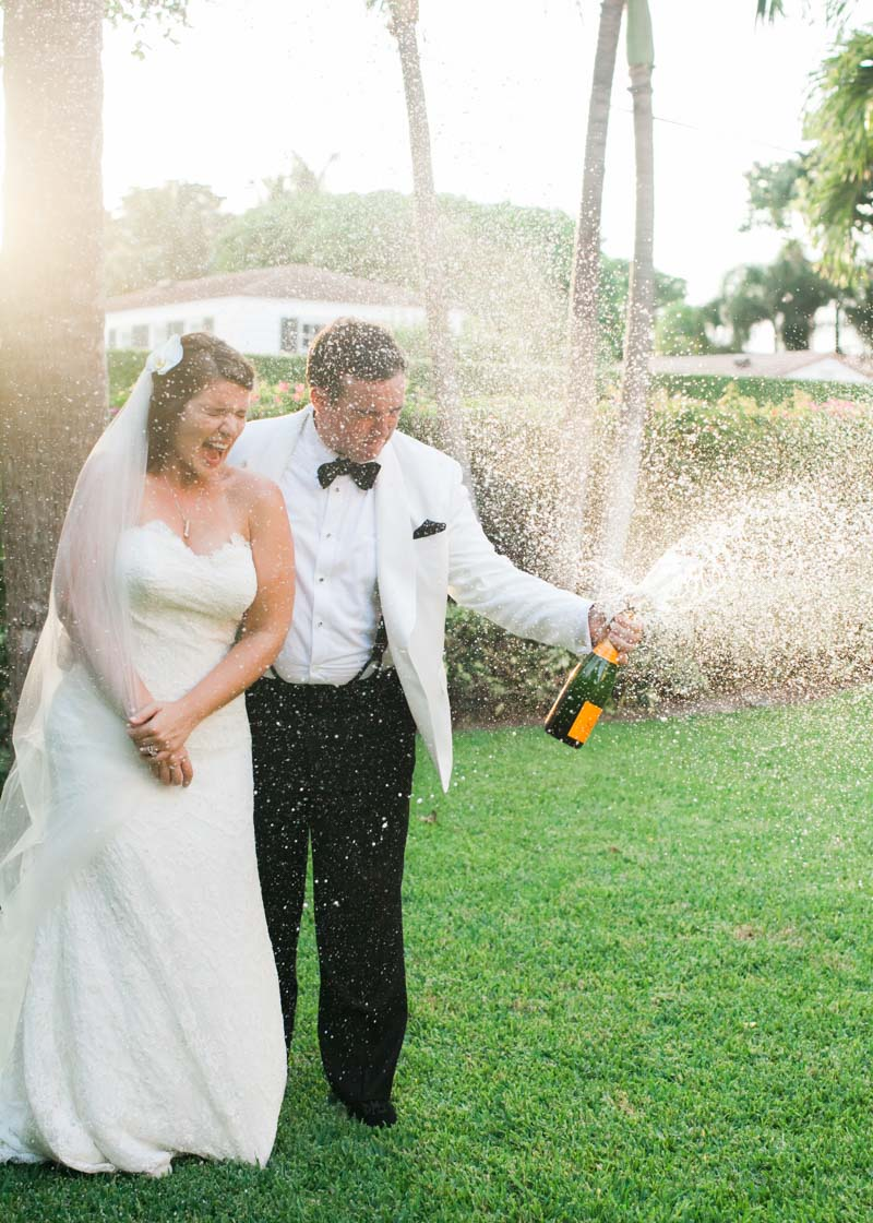 Champagne Showers with Bride & Groom