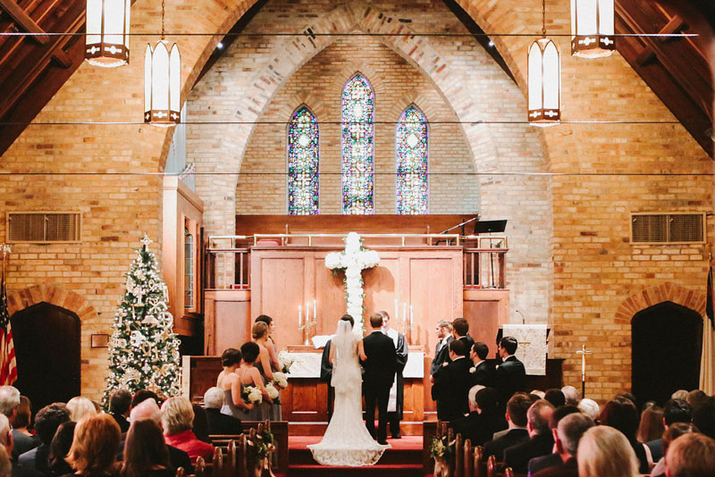Charming December Alabama Church Wedding Ceremony