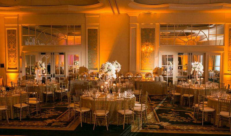 Copper wedding reception