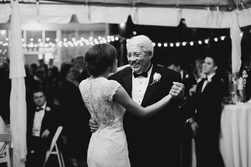 December Alabama Wedding Bride and Father First Dance