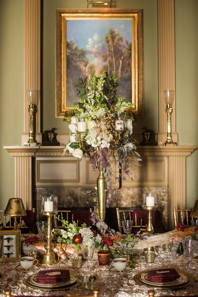 Elaborate centerpiece display
