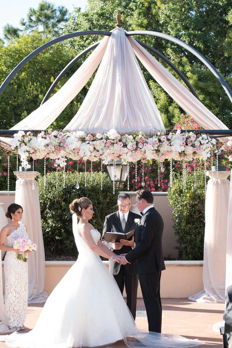 Elegant Outdoor Wedding Altar