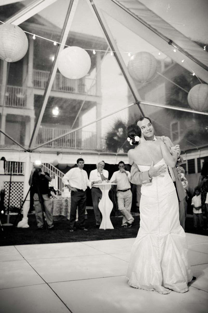 First dance at beach wedding