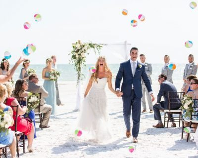 Florida beach wedding ceremony by CocoLuna Events