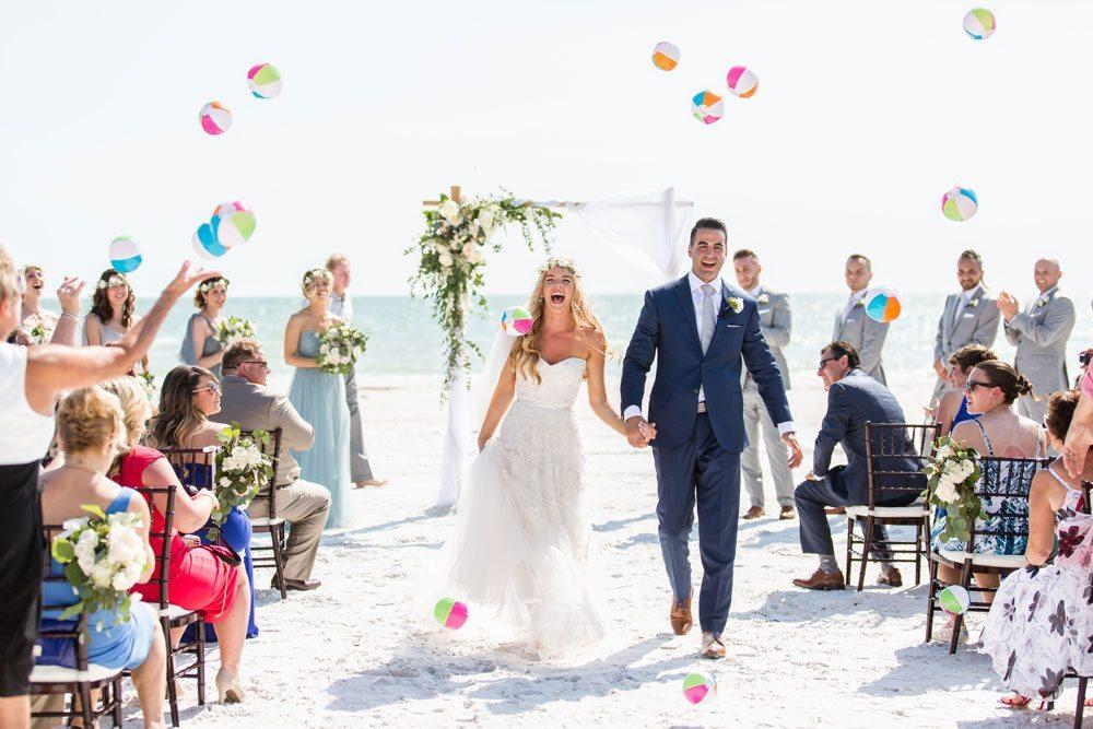 Florida beach wedding ceremony by CocoLuna Events