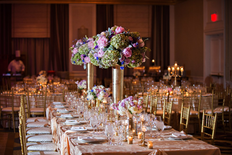 Glamorous Atlanta Wedding Floral Centerpieces and Tablescape
