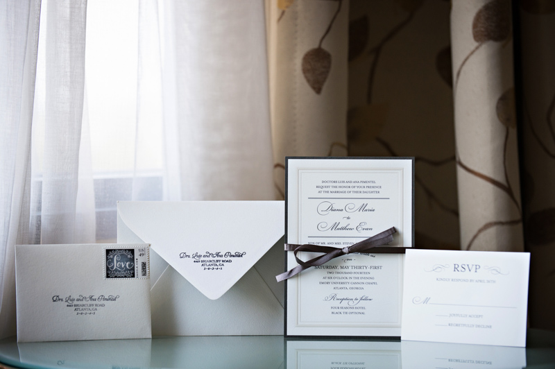 Glamorous Atlanta Wedding Invitation Suite