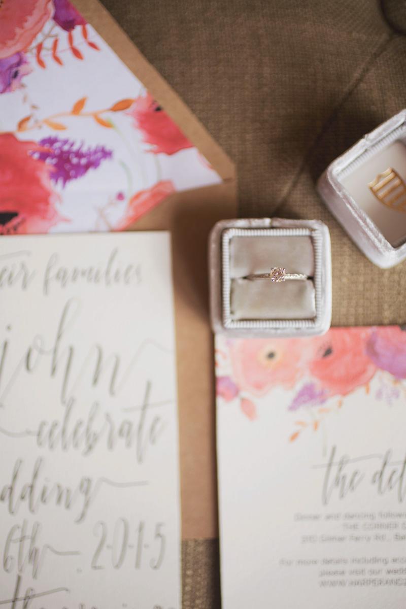 Gray Velvet Engagement Ring Box
