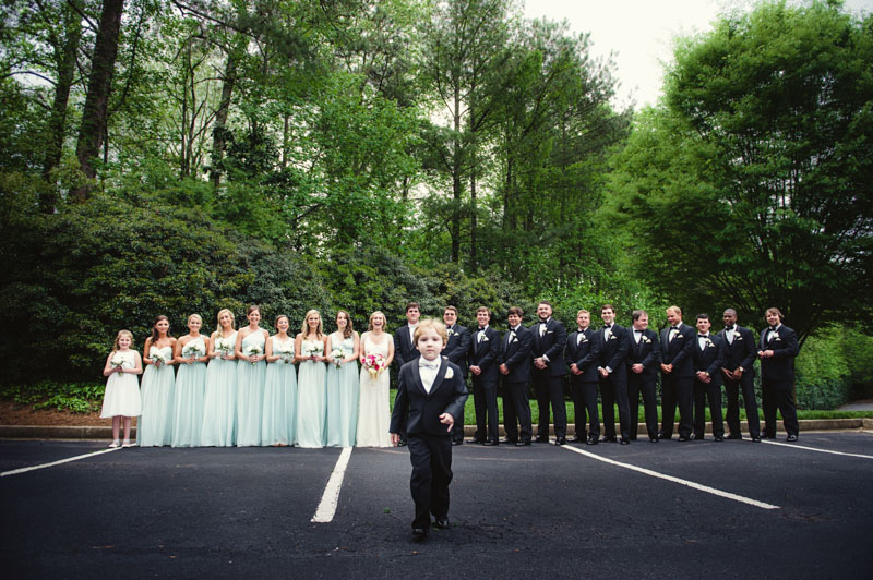 Group shot of wedding party