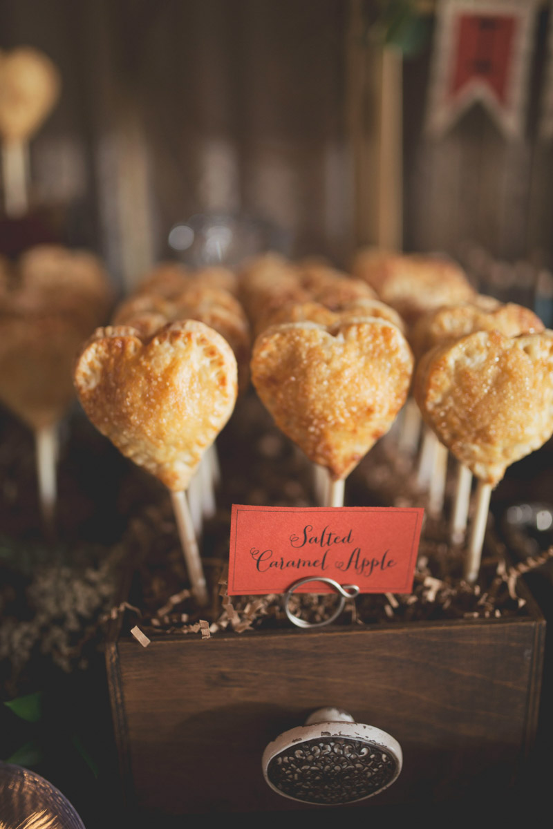 Heart Shaped Pie Pops Wedding Dessert Display