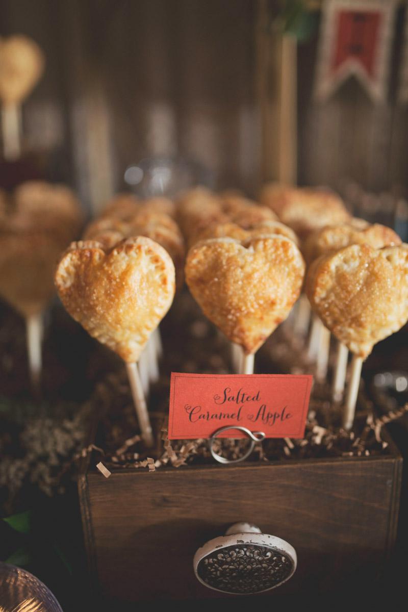 Heart Shaped Pie Pops Wedding Dessert Display
