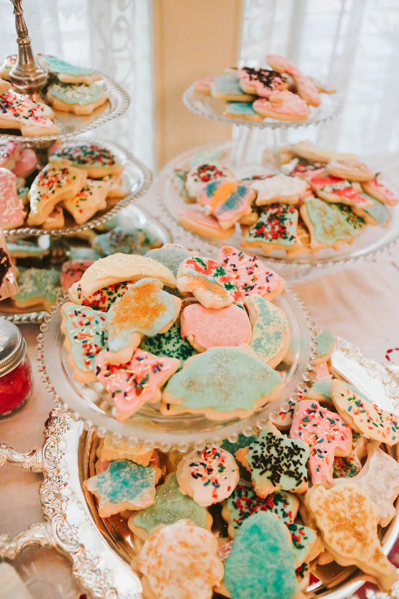 Homemade Christmas Cookies at Alabama Wedding Reception