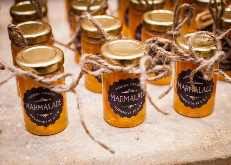 Homemade Marmalade Wedding Favors