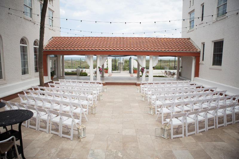 Hotel Outdoor Wedding Ceremony
