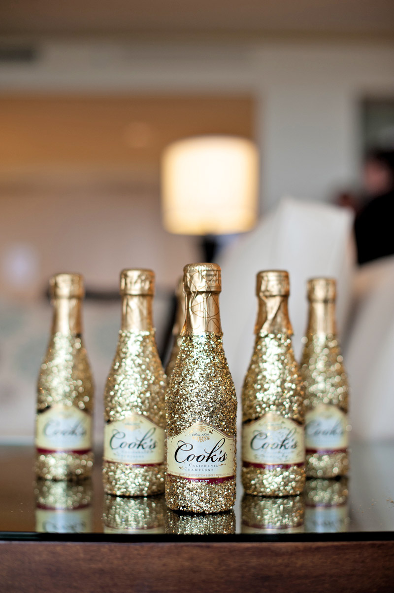 Mini Gold Glitter Champagne Bottles The Celebration Society