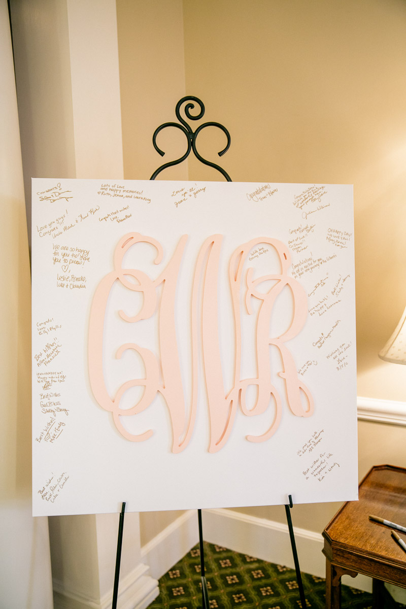 Monogrammed Poster for Signing