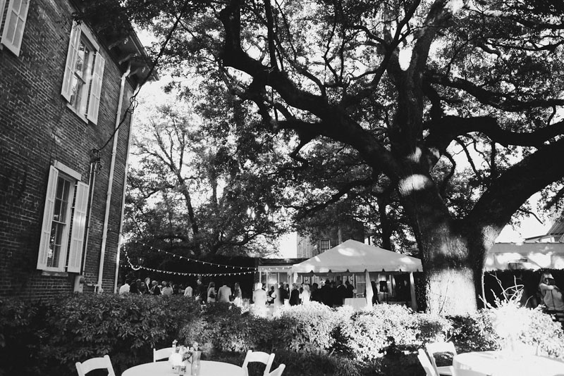 Outdoor Wedding Reception Venue with Oak Trees in Alabama