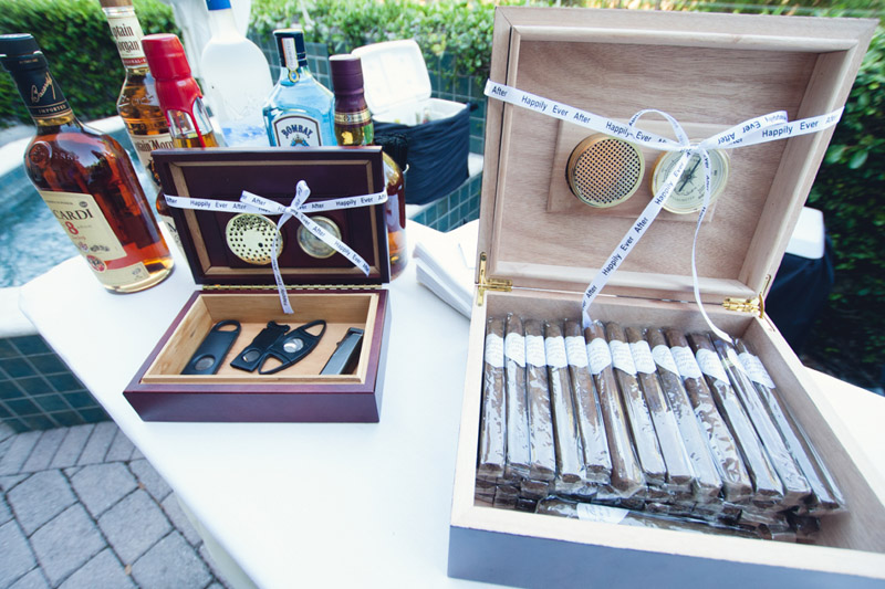 Romantic Lavish Wedding Cigar Box Table