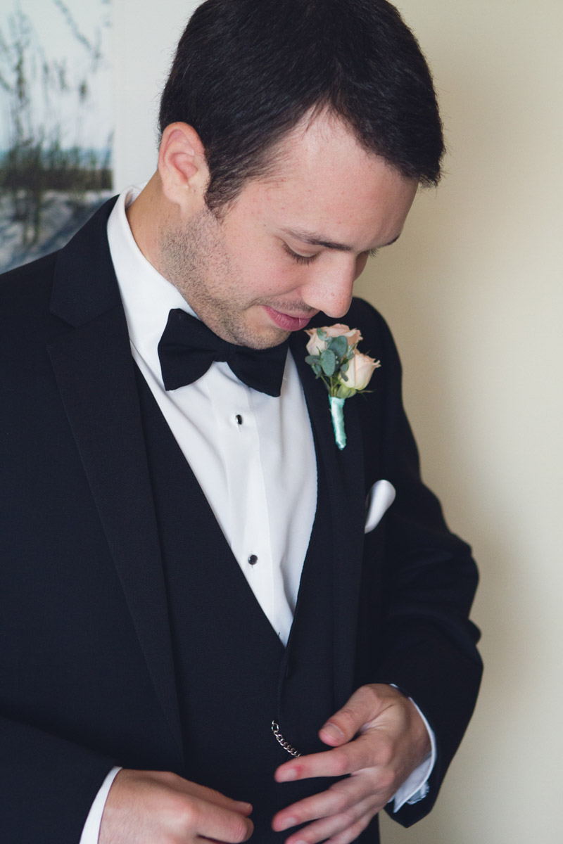 Romantic Tampa Wedding Groom