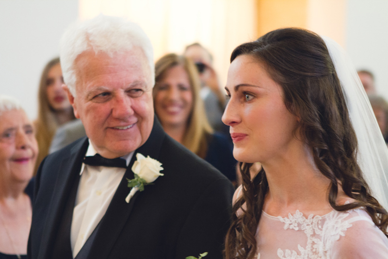 Southern Elegant Wedding Ceremony Bride & Father