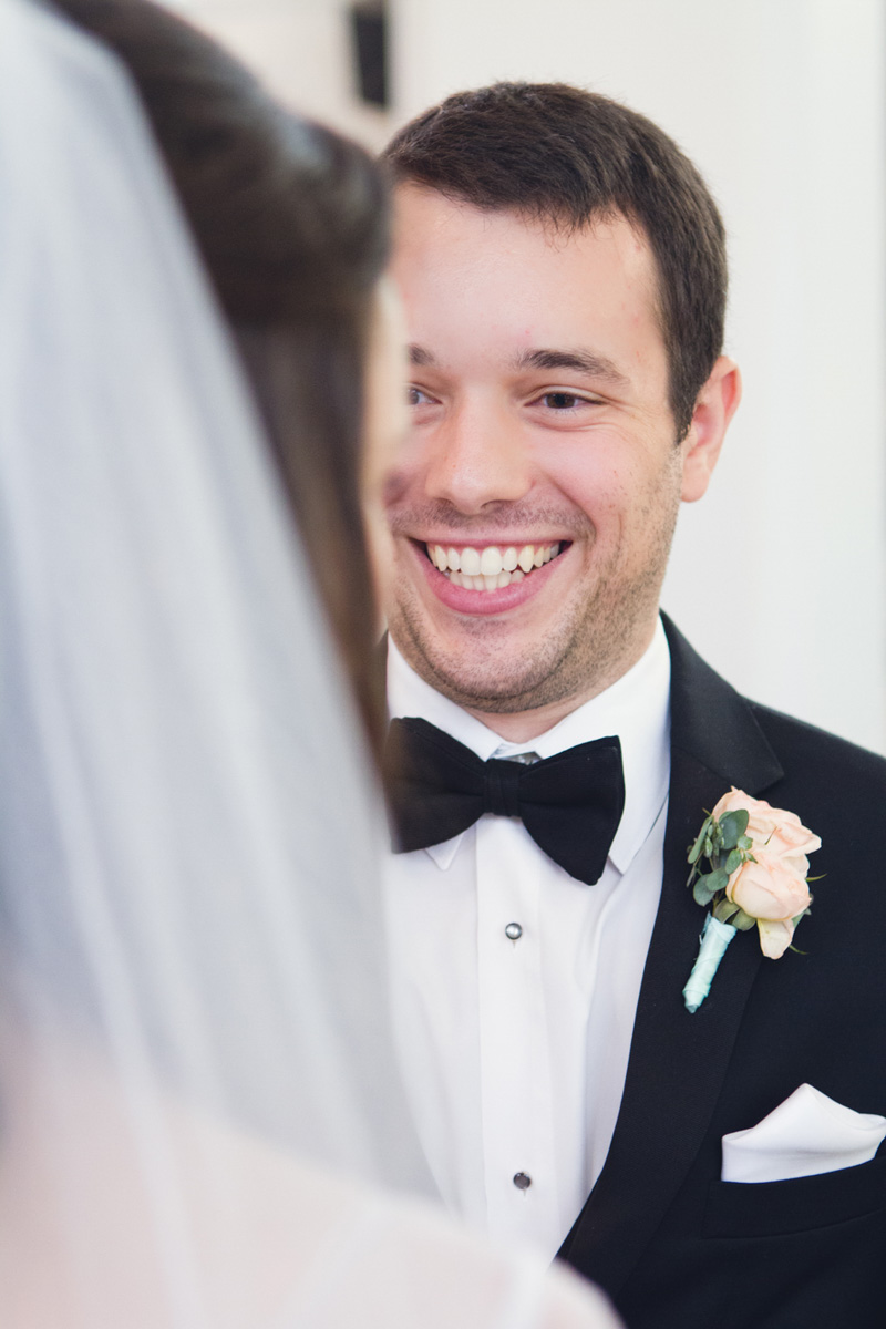 Southern Traditional Wedding Ceremony Groom Smiling