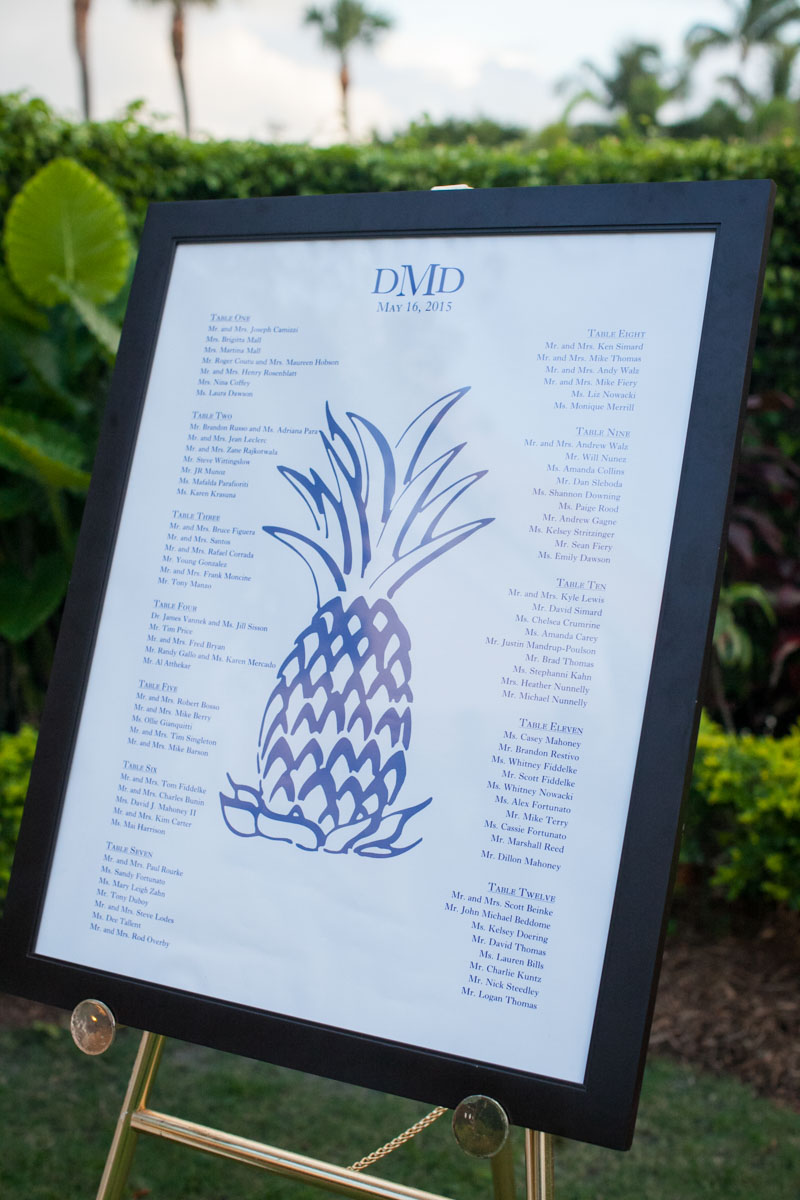 Table Assignments Pineapple Poster