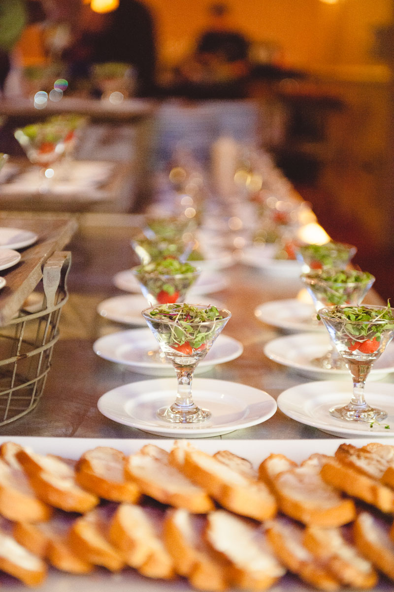 Traditional wedding entrees for guests