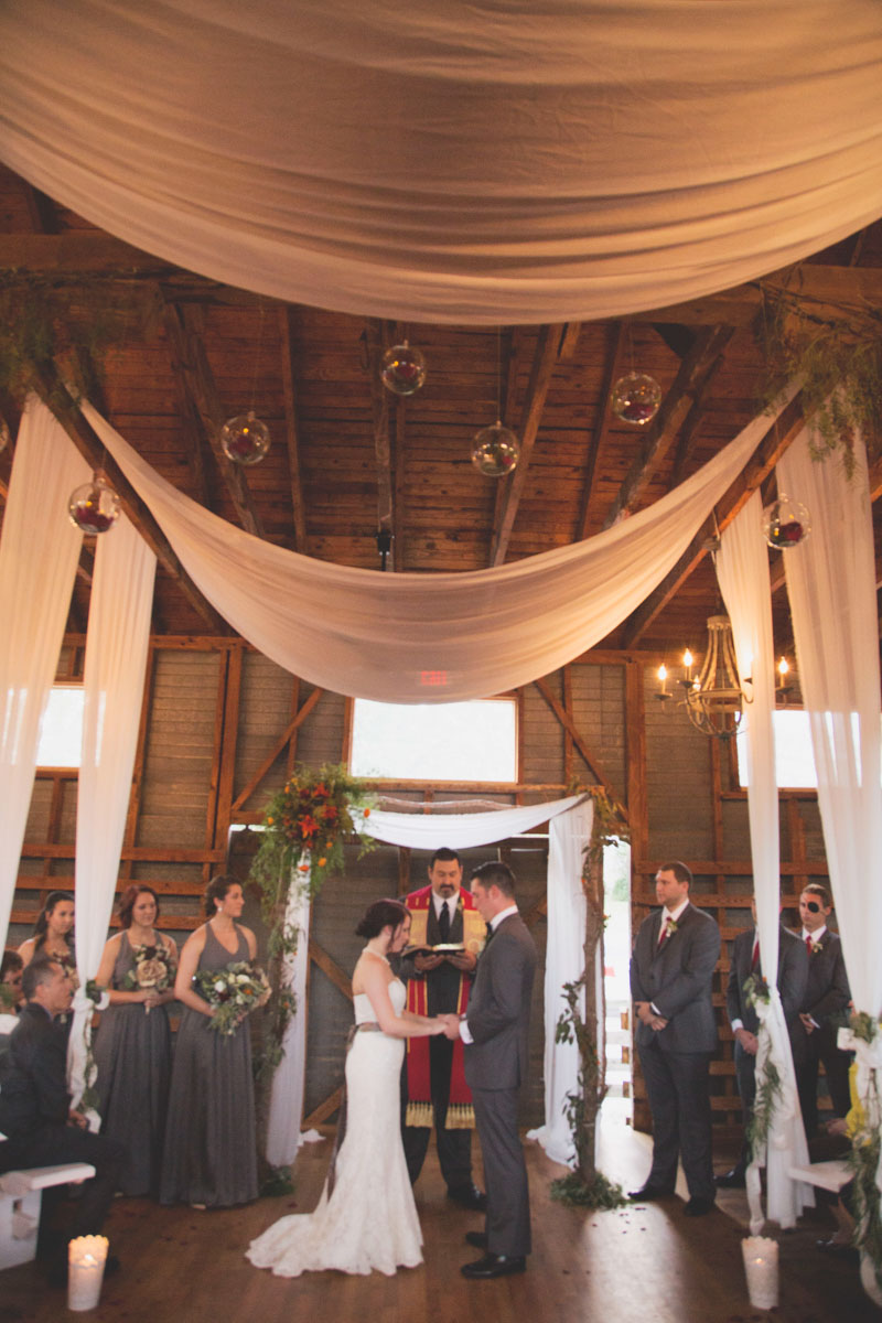 Wedding Ceremony in Industrial Indoor Space
