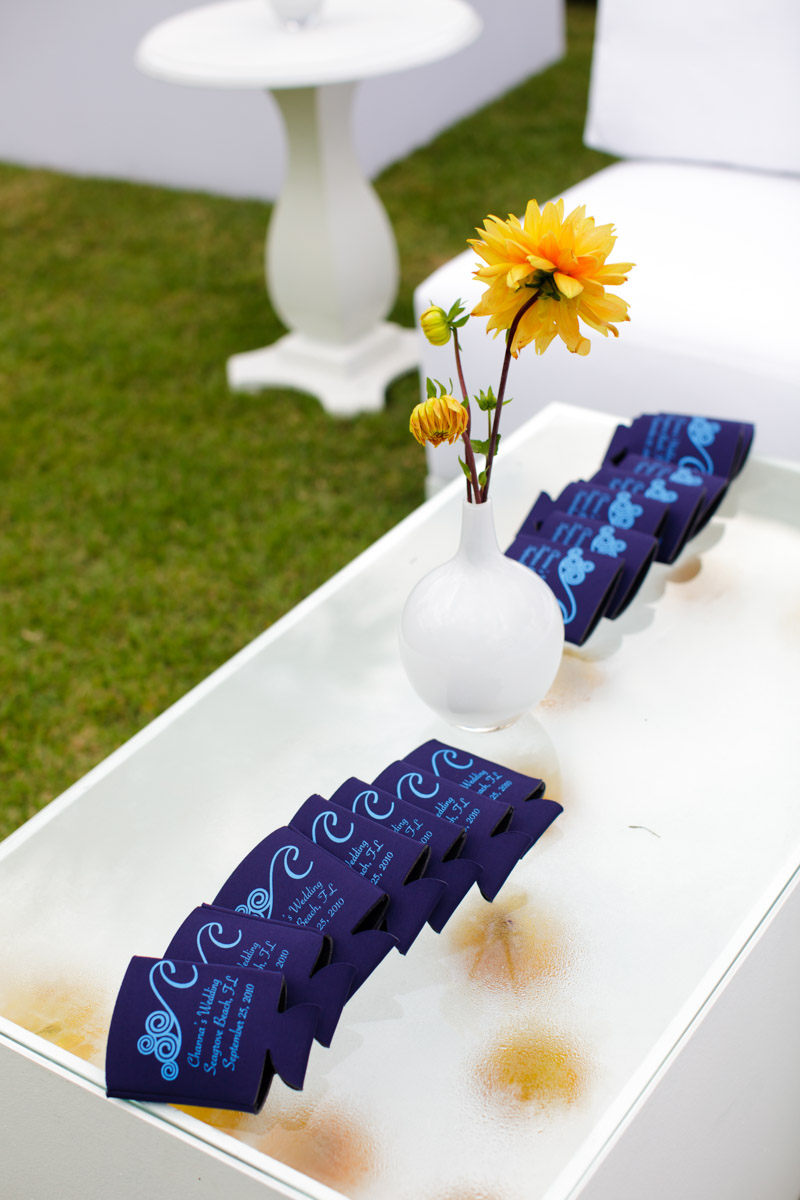 Wedding coozie for guests